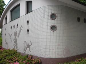 タイル施行 御蔵前公園公衆トイレ